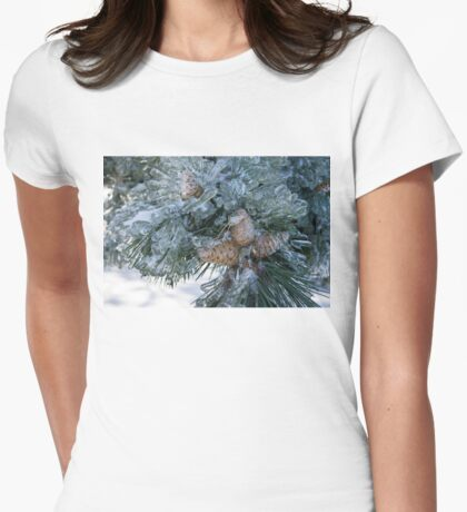Mother Nature's Christmas Decorations - Pine Cones Womens Fitted T-Shirt