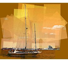 Sailboat - Fitting the Pieces Together Photographic Print