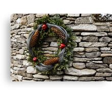 Christmas Cheer with Silver and Stones Canvas Print