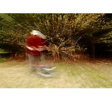 Zooming along with a Mower Photographic Print