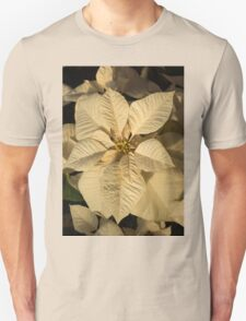 Radiant Cream Poinsettia - Exotic Christmas Greeting T-Shirt