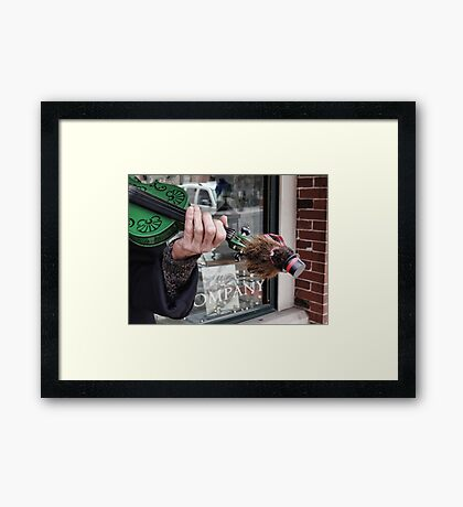 There's a groundhog on my fiddle Framed Print