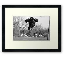 Look up into the sky...it's a bird...it's a plane...no it's just Andre Framed Print