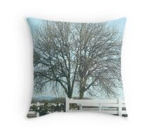 Country Fence Throw Pillow