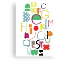 Cut&Paint Alphabet Canvas Print