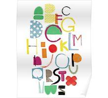 Cut&Paint Alphabet Poster