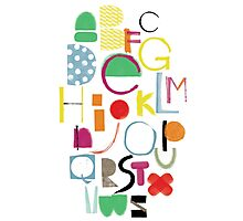 Cut&Paint Alphabet Photographic Print