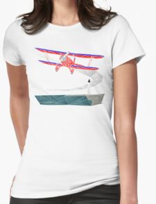 Biplane Womens Fitted T-Shirt