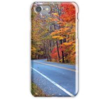 Autumn On A Scenic Highway iPhone Case/Skin
