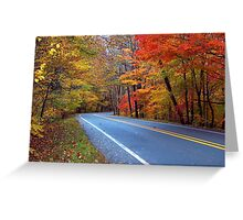 Autumn On A Scenic Highway Greeting Card