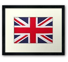 British Union Jack Flag Framed Print