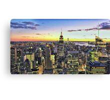 New York City Manhattan Skyline Canvas Print