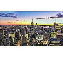 New York City Manhattan Skyline Photographic Print