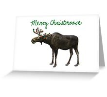 Merry Christmoose Greeting Card