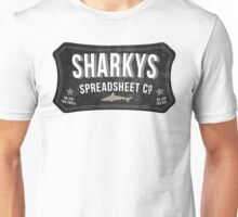 Sharkys Spreadsheet Co Unisex T-Shirt