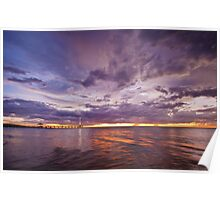 Stormy Sunset - Brighton Beach SA Poster