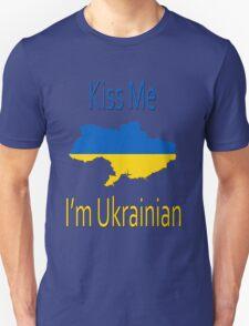 Kiss Me I'm Ukrainian Unisex T-Shirt