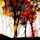 Autumn Cascade....October In Ink by ©Janis Zroback