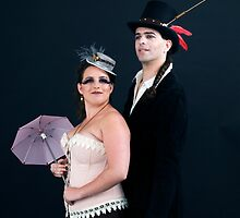 steampunk couple on black  by PhotoStock-Isra