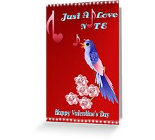 Blue Bird and Love Notes-lettered Greeting Card