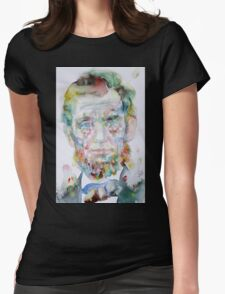 ABRAHAM LINCOLN - watercolor portrait.2 Womens Fitted T-Shirt