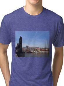 Saint Vitus catherdral from Charles Bridge Tri-blend T-Shirt