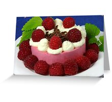 Raspberry and Cream Greeting Card