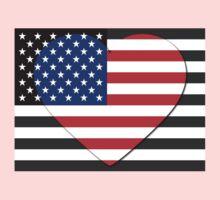 United States Flag T-shirt Baby Tee