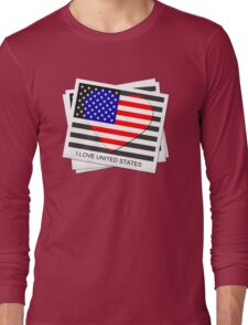 United States Flag T-shirt Long Sleeve T-Shirt