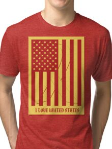 United States Flag Vintage T-shirt Tri-blend T-Shirt