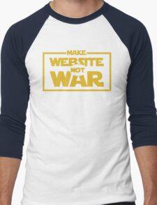 Make Website Not War Men's Baseball ¾ T-Shirt