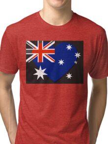 Australia Flag T-shirt Tri-blend T-Shirt