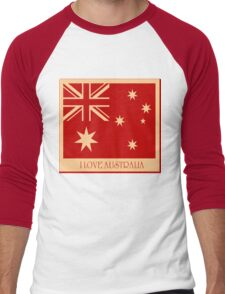 Australia Flag Vintage T-shirt Men's Baseball ¾ T-Shirt