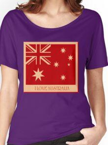Australia Flag Vintage T-shirt Women's Relaxed Fit T-Shirt