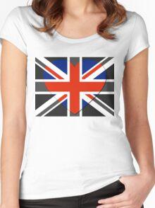 United Kingdom Flag T-shirt Women's Fitted Scoop T-Shirt