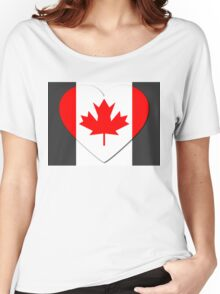 Canada Flag T-shirt Women's Relaxed Fit T-Shirt
