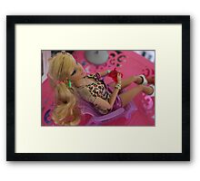 Barbie with a drink - 2012 Framed Print