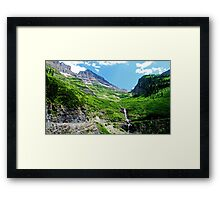 Scenes along Going to the Sun Road, Glacier National Park  Framed Print