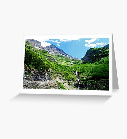 Scenes along Going to the Sun Road, Glacier National Park  Greeting Card