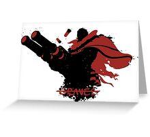 Graves Ink Black Greeting Card
