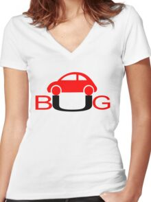 The Love Bug - Vintage cars T-Shirt Women's Fitted V-Neck T-Shirt
