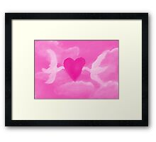 Love is in the air, watercolor Framed Print