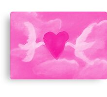 Love is in the air, watercolor Canvas Print