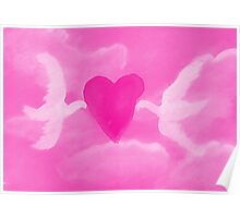 Love is in the air, watercolor Poster