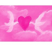 Love is in the air, watercolor Photographic Print