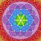 Rainbow Flower of Life by Elspeth McLean