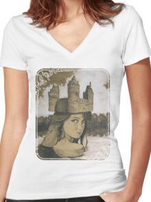 Lady of the Lake Women's Fitted V-Neck T-Shirt