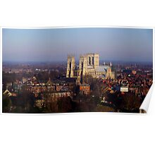 York Minster from the Wheel Poster