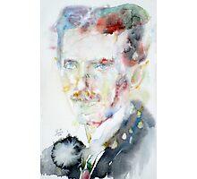NIKOLA TESLA - watercolor portrait.3 Photographic Print