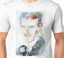 NIKOLA TESLA - watercolor portrait.3 Unisex T-Shirt